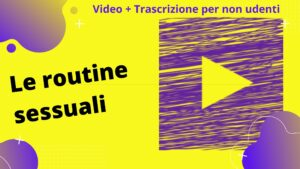 Le routine sessuali
